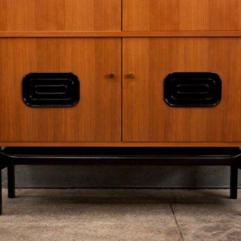 Mr Mod Mid Century Furniture Storage 1960s German Walnut Cabinet