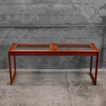 A rare 1960s Danish teak console table