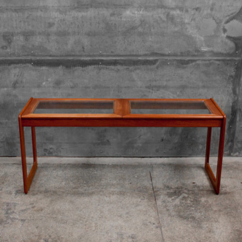A rare 1960s Danish teak console table