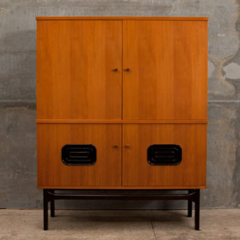 Mr Mod Mid Century Furniture Storage 1960s German Walnut Cabinet
