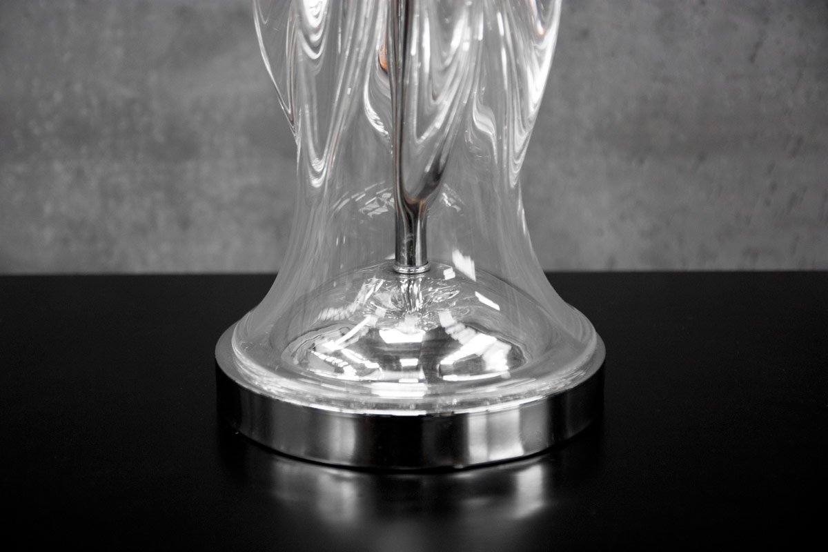 """Glass Lamp Bases South Africa: An Exceptional 60's Murano Glass """"Turbine"""" Lamp Base"""